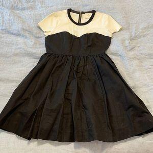 Kate Spade full skirt black and white dress